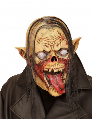 Máscara vampiro zombie pelo adulto Halloween