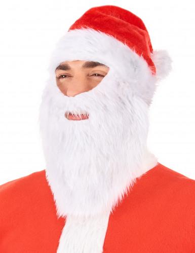 Gorro Papá Noel con barba adulto Navidad-1