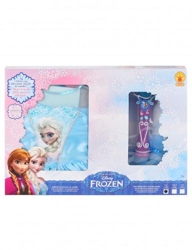 Pack caja disfraz clásico Elsa Frozen™ y micro-1