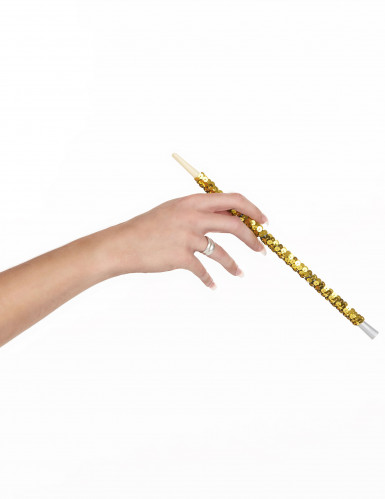 Boquilla lentejuelas dorado adulto-1