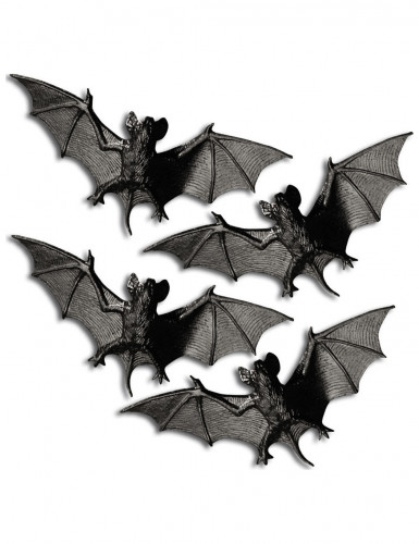 4 murciélagos 11 cm Halloween