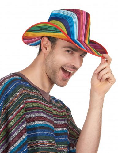Sombrero cowboy multicolor rayas adulto-1