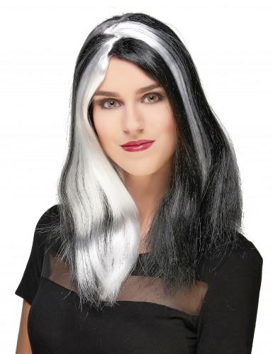 Peluca larga mujer siniestra Halloween