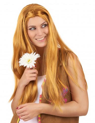 Peluca larga hippie pelirroja mujer