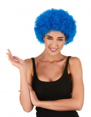 Peluca afro / payaso azul estándar adulto