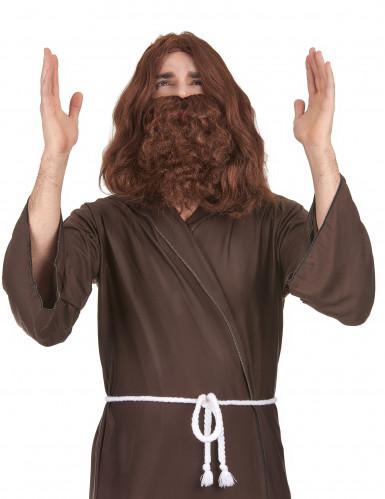 Peluca con barba Jesús hombre