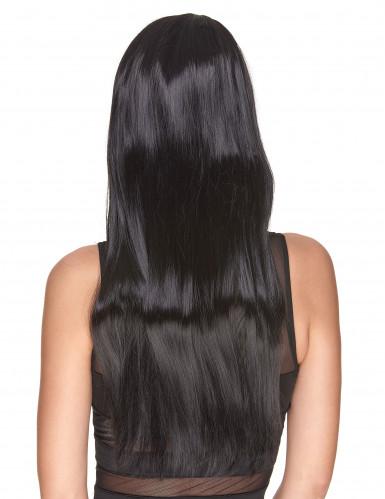 Peluca negra larga mujer Deluxe-1