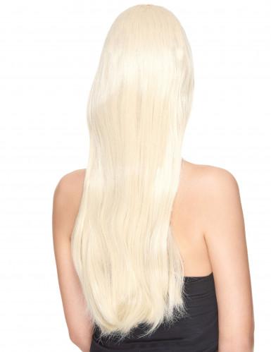 Peluca rubia larga mujer Deluxe-1
