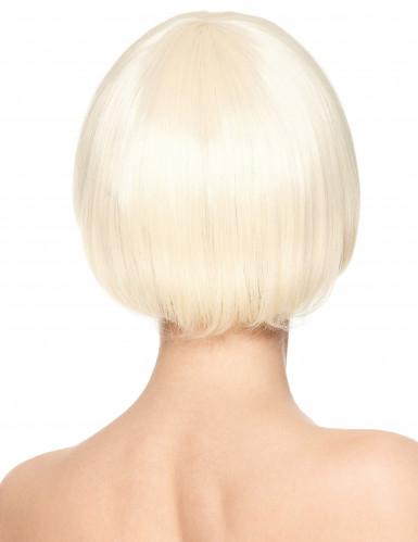 Peluca rubia corta Deluxe mujer-1