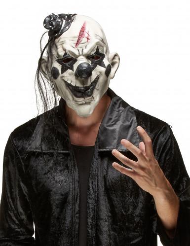 Máscara payaso rock terrorífico adulto Halloween
