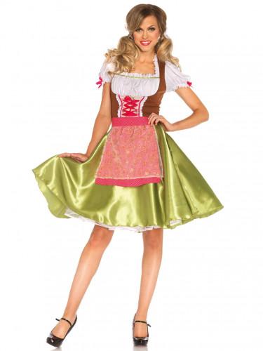 Disfraz bávara verde mujer