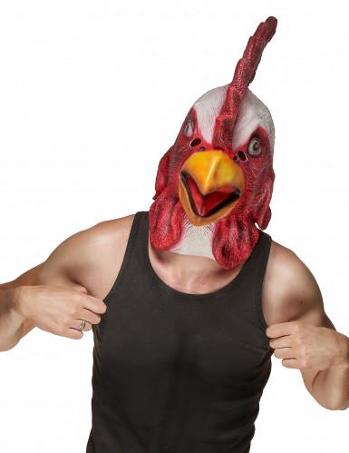 Máscara látex gallo adulto