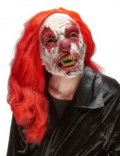 Máscara látex payaso terrorífico adulto Halloween