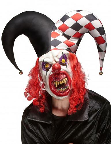 Máscara látex joker terrorífico adulto Halloween