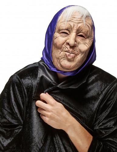 Máscara látex mujer vieja adulto