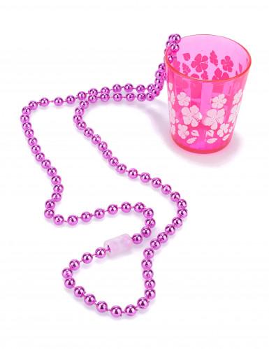 Collar de vaso rosa adulto