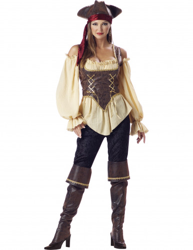 Disfraz de Pirata elegante para mujer -Premium