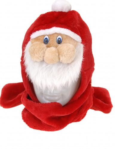Gorro con bufanda Papá Noel adulto