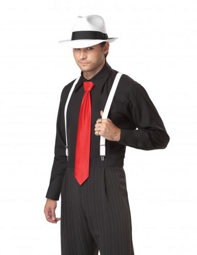 Disfraz de Gánster para hombre corbata roja-1