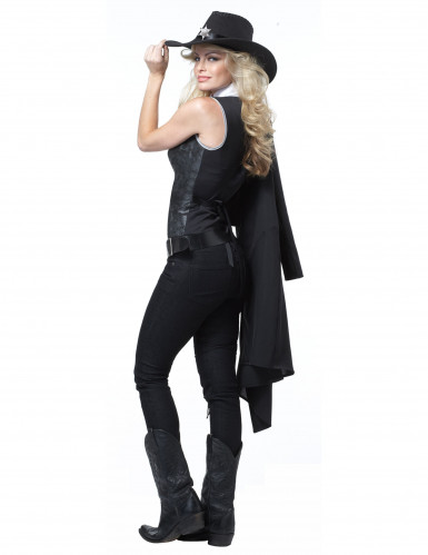 Disfraz Mujer sheriff para adulto-1