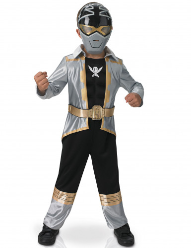 Disfraz 3D EVA Power Rangers™ Silver super mega force niño