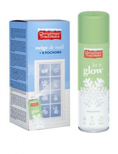 Spray nieve fluorescente 150 ml plantillas Navidad