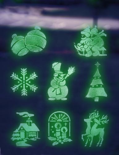 Spray nieve fluorescente 150 ml plantillas Navidad-2