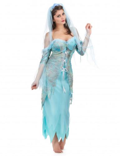 Disfraz sirena turquesa mujer