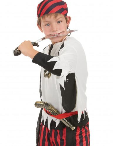 Kit de pirata - Sable pistola insignia y pendiente Niño-1