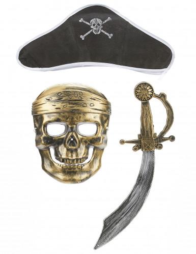 Kit pirata - máscara sombrero y sable niño