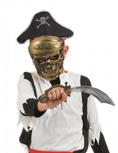 Kit pirata - máscara sombrero y sable niño-1