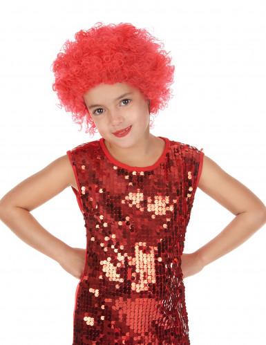 Peluca disco niño rojo
