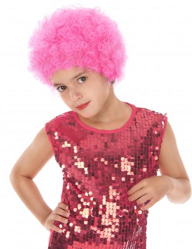 Peluca disco niño rosa