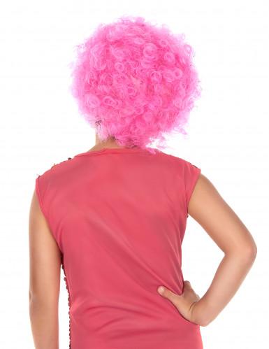 Peluca disco niño rosa-1