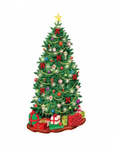 Decoraci n mural cart n rbol de navidad decoraci n y - Adornos de navidad en carton ...