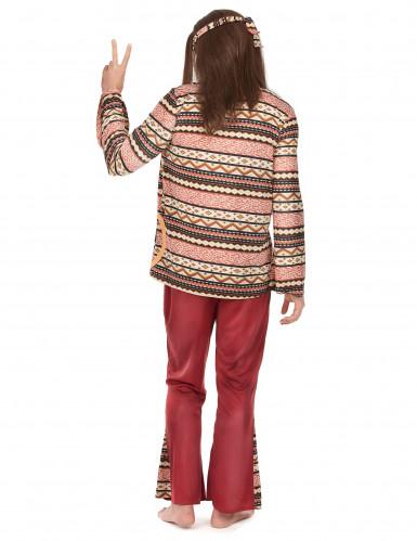 Disfraz hippie burdeos hombre-1