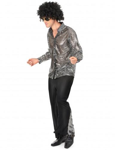 Disfraz disco plateado hombre-1