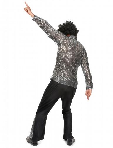 Disfraz disco plateado hombre-2