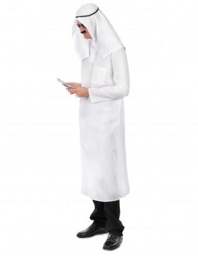 Disfraz jeque árabe blanco hombre-1