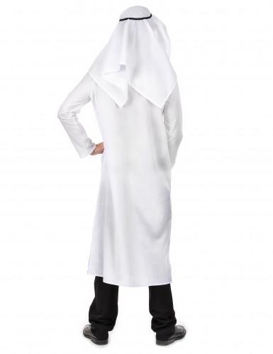 Disfraz jeque árabe blanco hombre-2