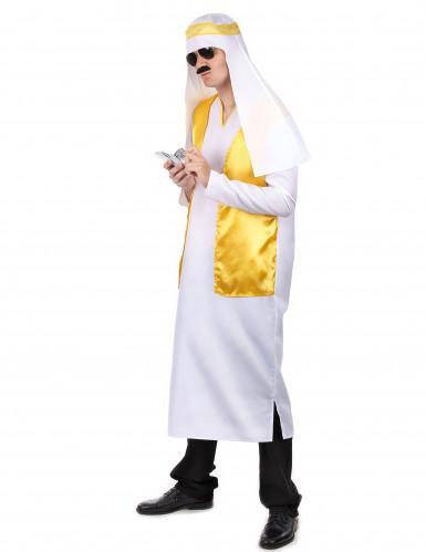 Disfraz jeque árabe blanco y amarillo hombre-1