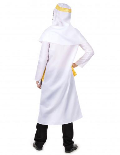 Disfraz jeque árabe blanco y amarillo hombre-2