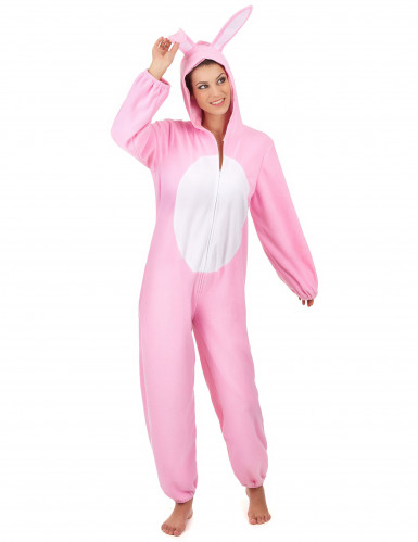 Disfraz conejo rosa mujer