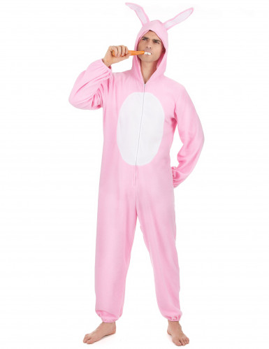 Disfraz conejo rosa hombre