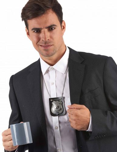 Collar placa de policía adulto-1