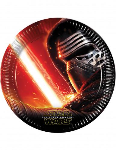 8 Platos cartón Star Wars VII™ 22 cm