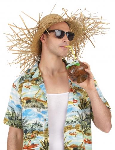 Sombrero paja Hawái adulto-1