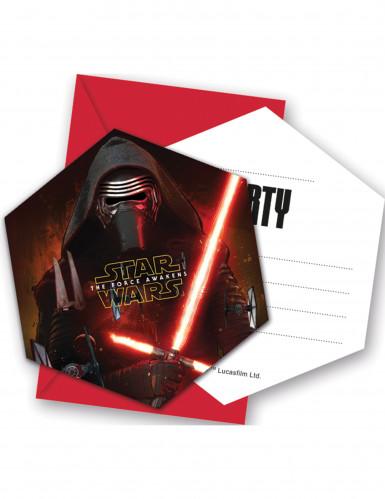 6 Tarjetas Invitación Con Sobres Star Wars Vii