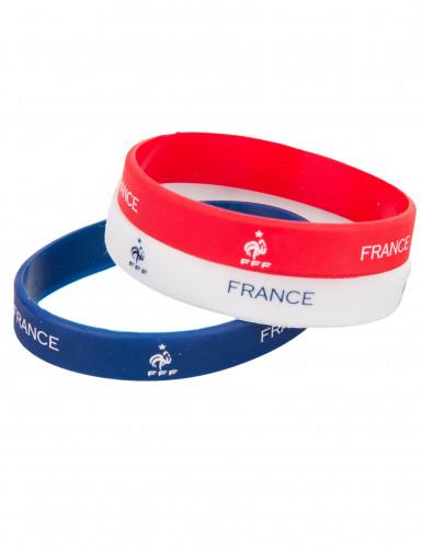 Pulseras tricolores silicona Francia FFF™