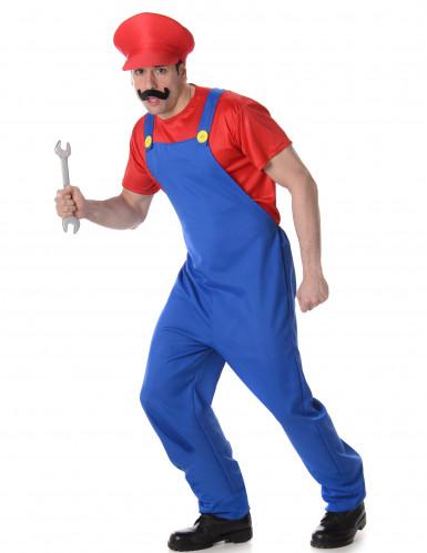 Disfraz de fontanero rojo hombre